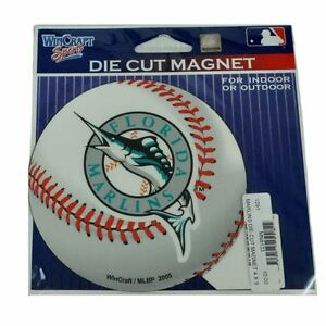 MLB Baseball Florida Marlins Logo Indoor Outdoor Fan Die Cut Magnet Licensed