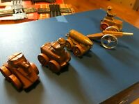 VINTAGE BARCLAY MANOIL CANNON CAR VEHICLE / Tanks Lot of 5