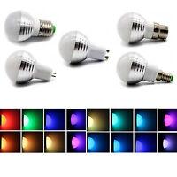 Spot Light 3W RGB Magic LED 16 Color Change Bulb MR16 E14 E27 GU10 B22 GU53 Lamp
