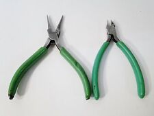 2 PC XCELITE MS54 CUTTER PLIERS & LONG NOSE PLIERS SET