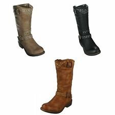Synthetic No Pattern Mid-Calf Women's Boots