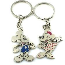 Mickeys Minnie Mouse Keychain Keyring Keyfob Cute Creative Gift 1Pair 2pcs