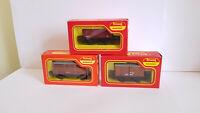 3 Tri-ang Hornby OO Guage R11 R112 R122 Wagons Boxed Railways Joblot