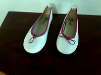 Zona centro women's ballerina flats shoes patent leather White  39 US 8.5 Italy