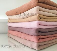 Habiba Da Silva Skin II Inspired Hijab Rayon Crinkle Scarf High Quality Maxi