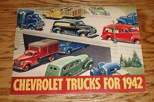 Original 1942 Chevrolet Truck Full Line Sales Brochure 42 Chevy Pickup Panel