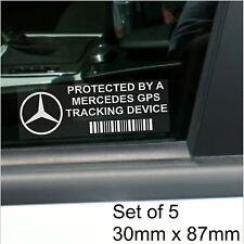 5 x Mercedes Benz GPS Tracking Device Security Stickers-SLK E-Car Alarm Tracker