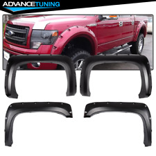 For 07-14 Silverado 1500 2500 3500 Pocket Rivet Style Long Bed Fender Flares