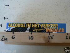 STICKER,DECAL ALCOHOL IN HET VERKEER ALGAUW EEN MISDAAD