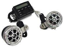 Impianto Radio Audio Stereo Impermeabile 2 Altoparlanti Custom Chopper Bobber