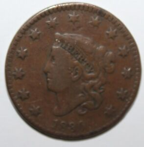 1830 Coronet  Head  Large Cent - Large Letters 100% Copper  **Free Shipping**