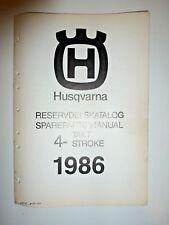 Genuine OEM Original Husqvarna 1986 Spare Parts Manual 4 Stroke 510