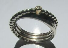 Authentic Pandora Silver & Gold Rising Star Ring Size 5.25 Item 190243D