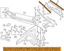 VW VOLKSWAGEN OEM 07-08 Touareg Wiper Washer-Windshield-Blade 7L0998002A