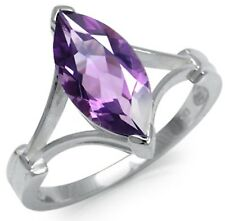 Con Ametista Marquise Sterling Silver Ring Taglia S
