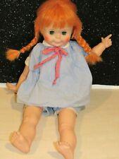"Rare Vintage 1971 EEGEE Georgette Doll 22"" Red Hair Green Eyes 17RNG PIPI NICE"