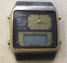 "Mens Vintage Pulsar Watch Face-""As Is"" Parts or Repairs EE7"