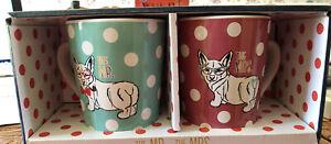 MR MRS Corgi Mugs for Furr Parent Mug Set By American Atelier FUR Baby 14 Oz NIB