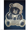 """Mikasa Crystal Glass Serving Platter Teddy Bear Holiday Party Cookie Plate 12"""""""