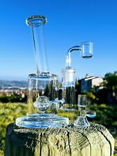 "7"" Premium Quality Glass Rig UFO Perc Combo Tobacco Smoking Water Pipe Bong"