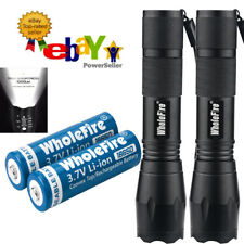 2 Pack Super-Bright 90000LM LED Tactical Flashlight With Rechargeable Battery US