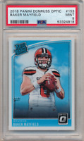 2018 Panini Donruss Optic RC Rated Rookie Card Baker Mayfield NFL #153 PSA 9