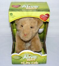 WOWWEE ALIVE MINIS LION CUB INTERACTIVE PLAY SOFT BABY WILD CAT