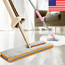 US Useful Double-Side Flat Mop Hands-Free Washable Mop Home Cleaning Tool Lazy