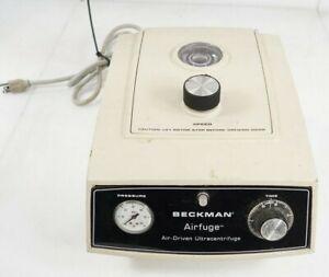 Beckman 350624 Airfuge Air-Driven Benchtop Ultracentrifuge No Rotor