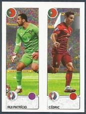 PANINI EURO 2016- #598-A-B-PORTUGAL-RUI PATRICIO / CEDRIC IN ACTION