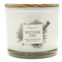 Scentsational Natural Soy Blend 26oz Cotton 3 Wick Candle Jar - Northern Pine