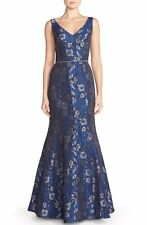 JS Collections Embellished Jacquard Mermaid Gown Sz 8 - $338