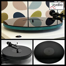 Gloss Black Acrylic Turntable Platter Mat. Fits REGA, THORENS!