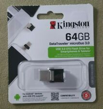 Kingston 64GB DataTraveler microDuo DTDUO3 USB 3.0 OTG Flash Drive DTDUO3/64GB
