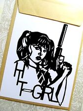 HIT GIRL, ORIGINALE Pop Art, KICK ASS Adesivo decalcomania in vinile 5 x 6 1/2 pollici