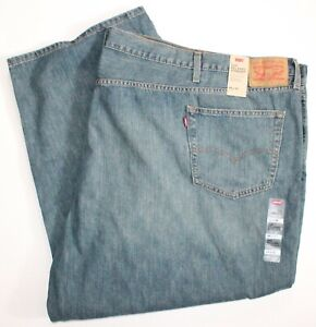 Levis 559 • Relaxed Straight Fit Blue Jeans Mens Big & Tall • Size 66 x 30 • NEW