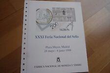 FNMT,DOCUMENTO FILATELICO 56,1999. XXXI FERIA NACIONAL DEL SELLO.