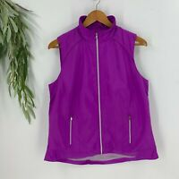Polo Golf Ralph Lauren Womens Zip Up Jacket Vest Size Large L Pink NWT I8