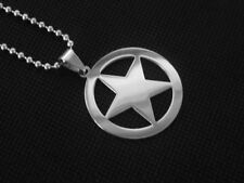 Captain America Stainless Steel Silver Superhero Marvel Necklace Chain Pendent