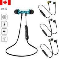 In-Ear Wireless Bluetooth 4.2 Headset Magnetic Earphones For iPhone Samsung LG..