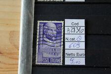 FRANCOBOLLI ITALIA REPUBBLICA USATI N. 609 (A28310)