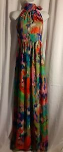 Red Snap Saks Fifth Avenue Long Halter Dress Size 6