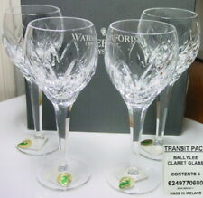 Waterford BALLYLEE Claret Wine Glasses (4) NEW in BOX, Made in Ireland