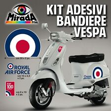 KIT Adesivi Stickers VESPA BANDIERA INGLESE ROYAL AIR FORCE 100 ANNI PX PIAGGIO