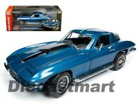 Autoworld 1:18 1967 Chevrolet Corvette 427 Metallic Blue AMM1176 Model Car New