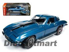 Autoworld 1:18 1967 Chevrolet Corvette 427 Metallic Blue AMM1176 Model Car New