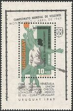 Uruguay 1969 Basketball/Volleyball/Sports/Games/Animation 1v m/s o/p (n24736)