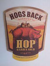 Beer Coaster: HOGS BACK Brewery HBB Bitter, Hop Garden Gold ~ Tongham Surrey, UK