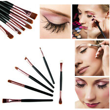 6PCS Makeup Eye Smudge Brush Shadow Eyeshadow Nose Eyeliner Brush Set Tool Kits