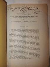 Eruzione Vesuvio - Johnston-Lavis: Fifty Conclusions Monte Somma 1890 autografo